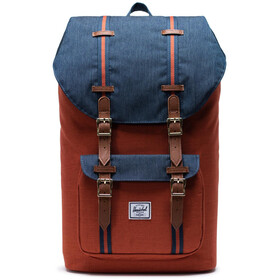 Herschel Little America Rugzak, indigo denim/picante crosshatch/tan